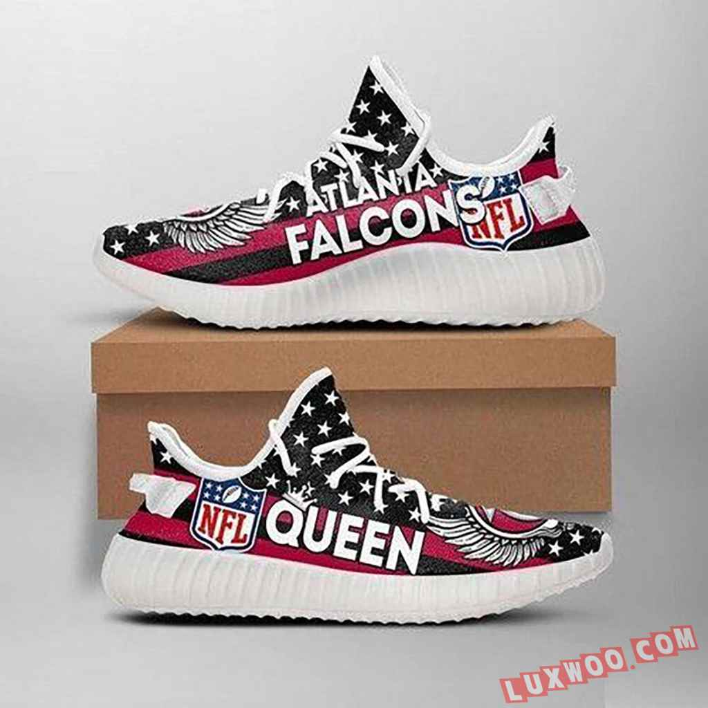 Atlanta Falcons Queen Nfl Like Yeezy Falcons Shoes Red Black