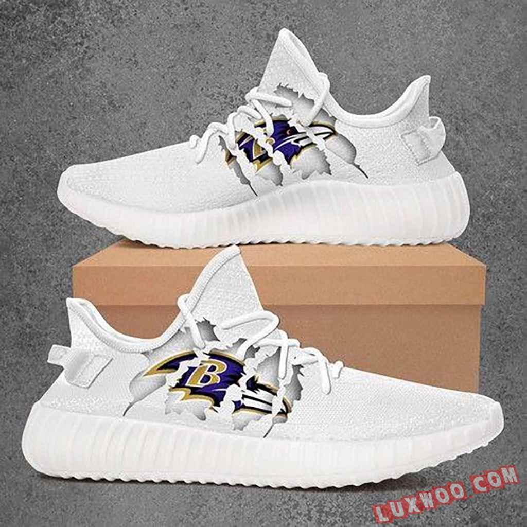 Baltimore Ravens Nfl White Yeezy Sneaker