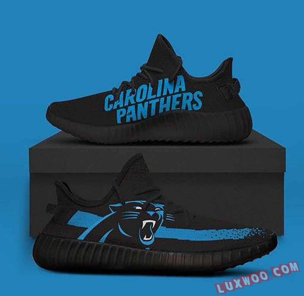 Carolina Panthers Black Nfl Teams Yeezy Boost 350 V2