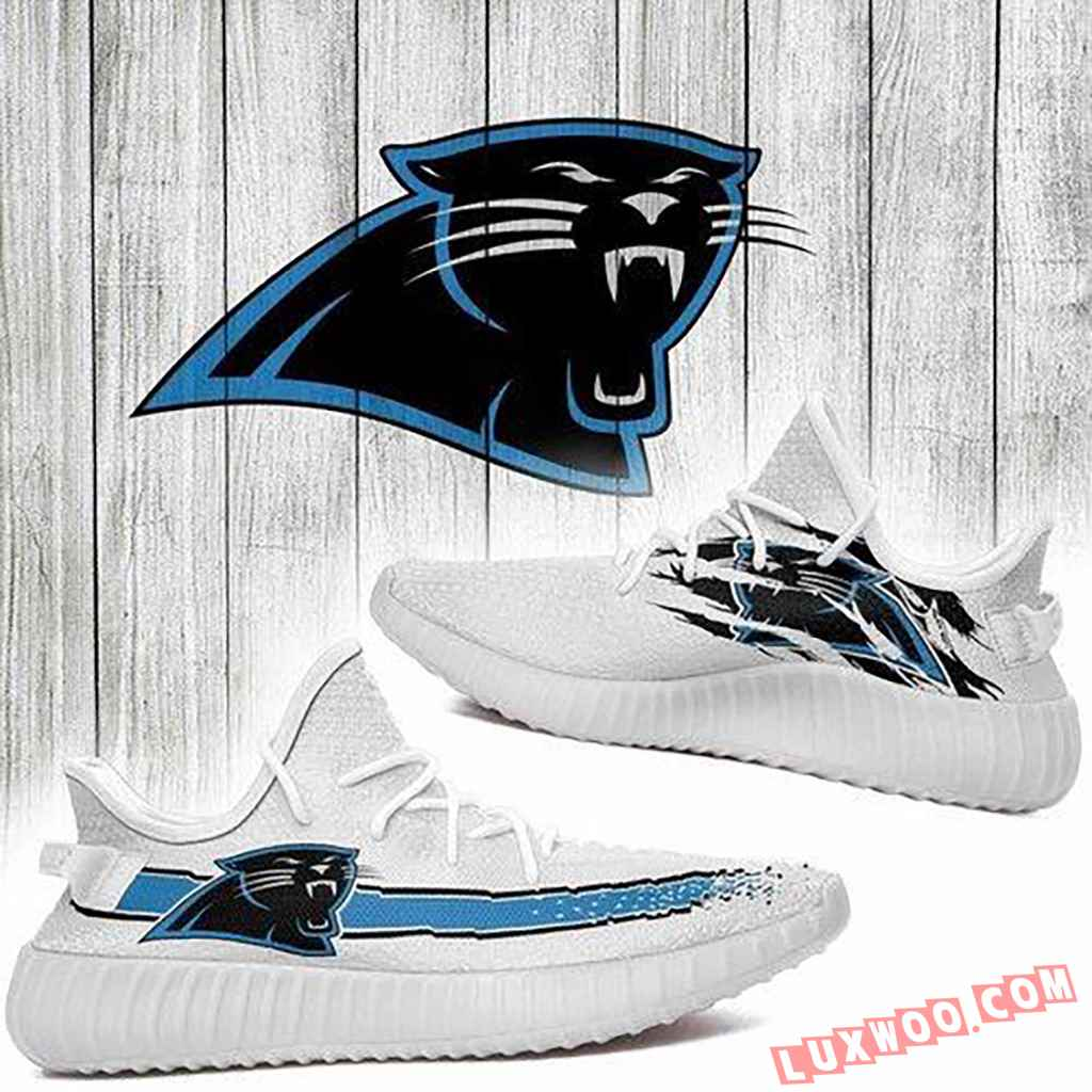 Carolina Panthers Nfl Yeezy Boost 350 V2 Shoes