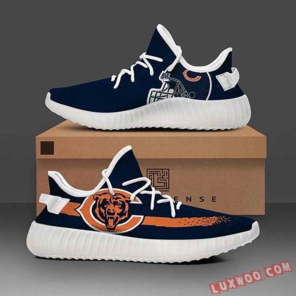 Chicago Bears Black Nfl Teams Adidas Yeezy Boost 350 V2