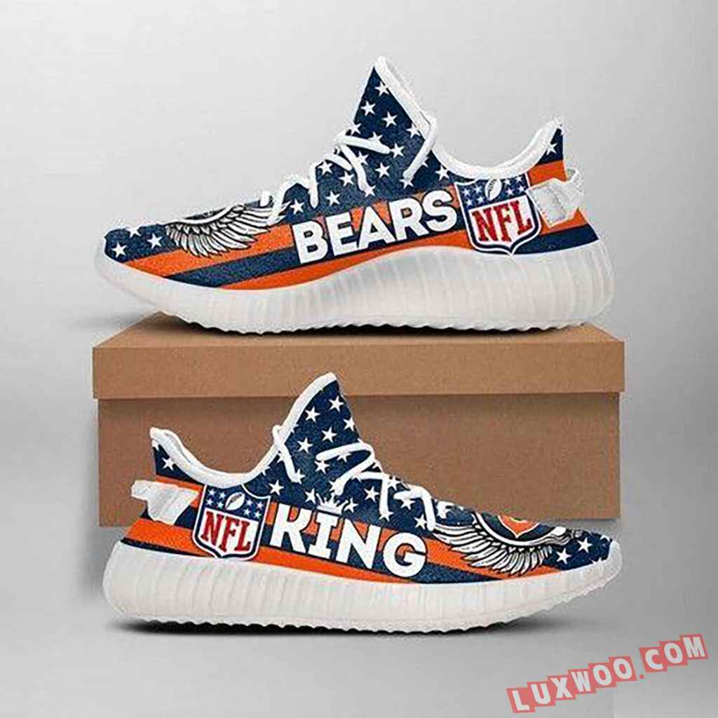Chicago Bears Kings Nfl Like Yeezy Bears Shoes