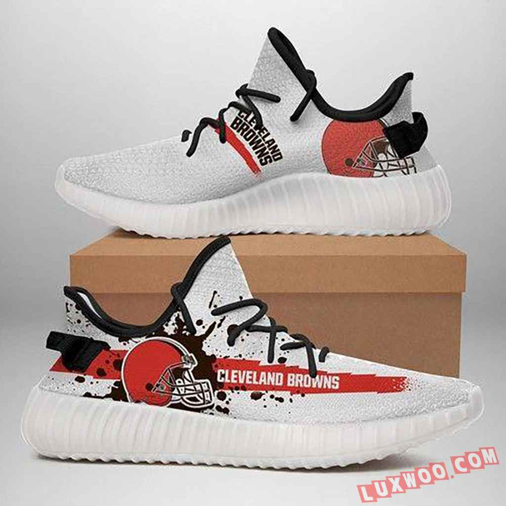 Cleveland Browns White Yeezy Sneaker