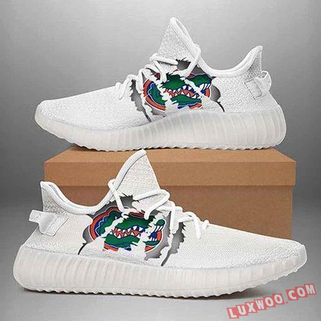 Florida Gators Ripped White Running Shoes Yeezy 350v2