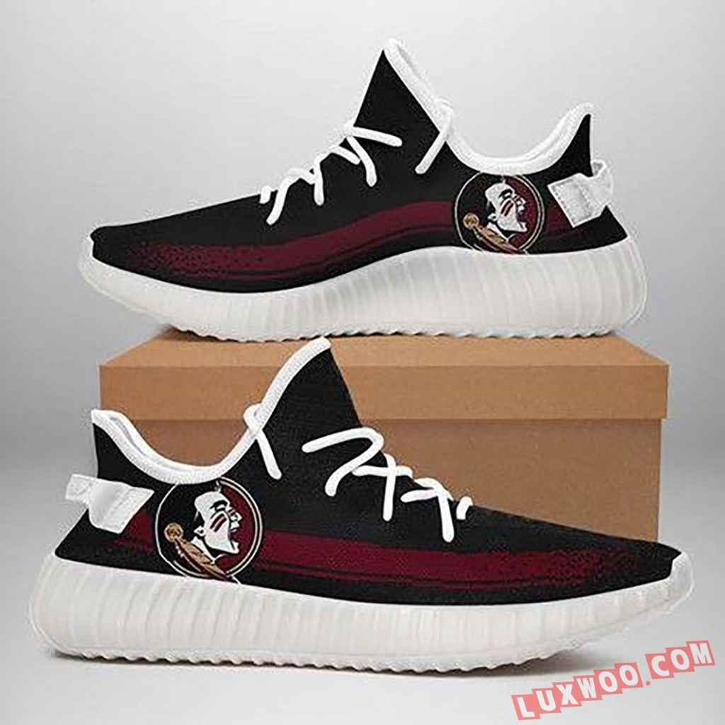 Florida State Seminoles Black Red Running Shoes Yeezy 350v2