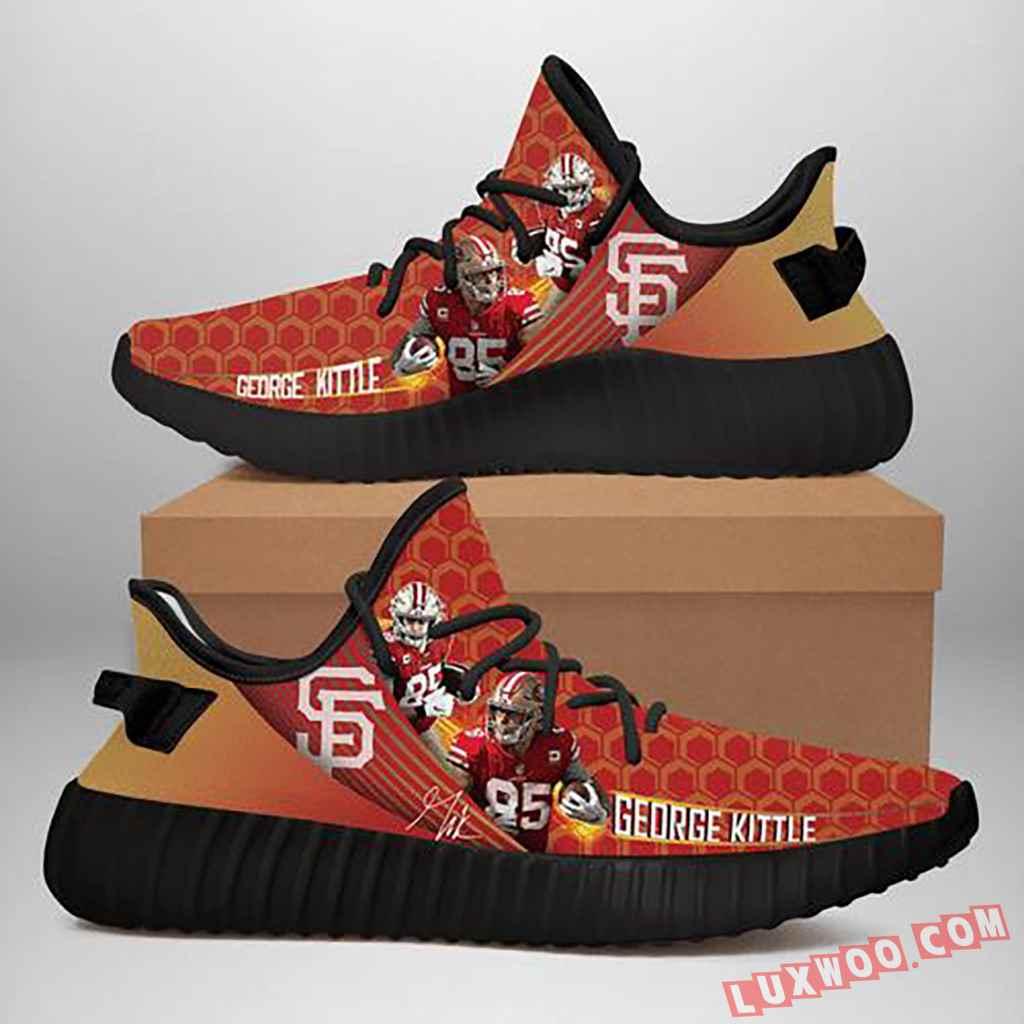 George Kittle San Francisco 49ers Nfl Yeezy Sneaker George Kittle
