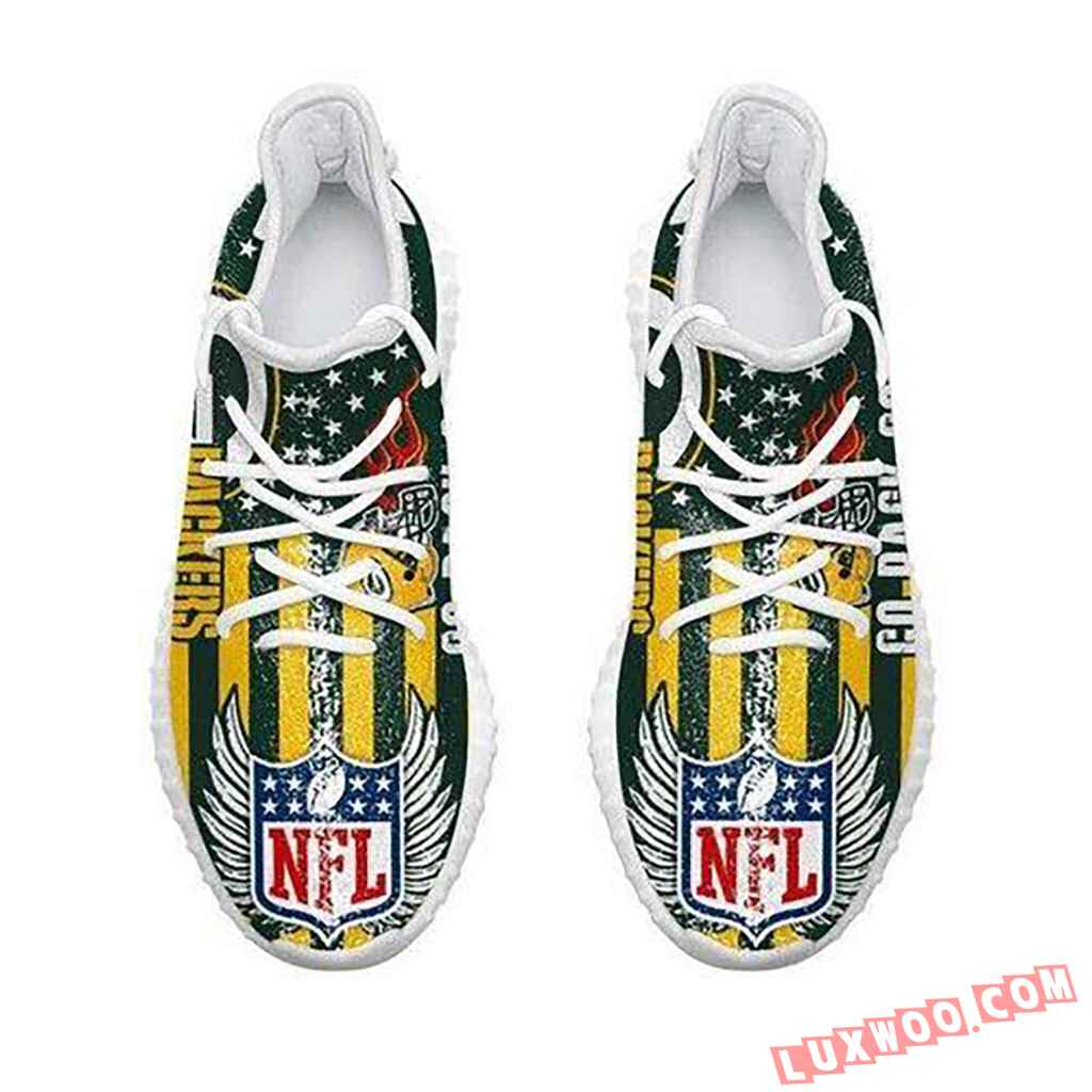 Green Bay Packers Go Pack Go Nfl Like Yeezy Packers Shoes
