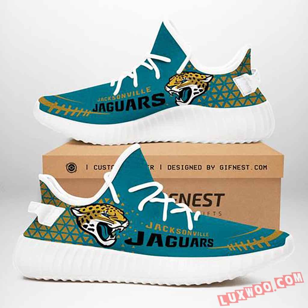 Jacksonville Jaguars Nfl Yeezy Boost 350 V2 Custom Running Shoes