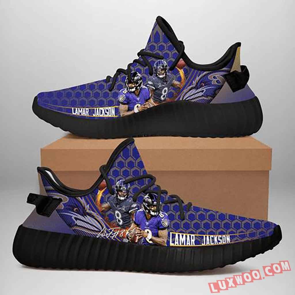 Lamar Jackson Baltimore Ravens Nfl Yeezy Sneaker