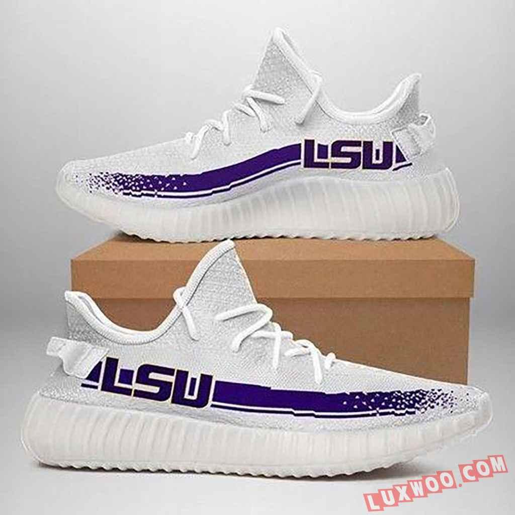Lsu Tigers White Purple Running Shoes Yeezy Sneaker