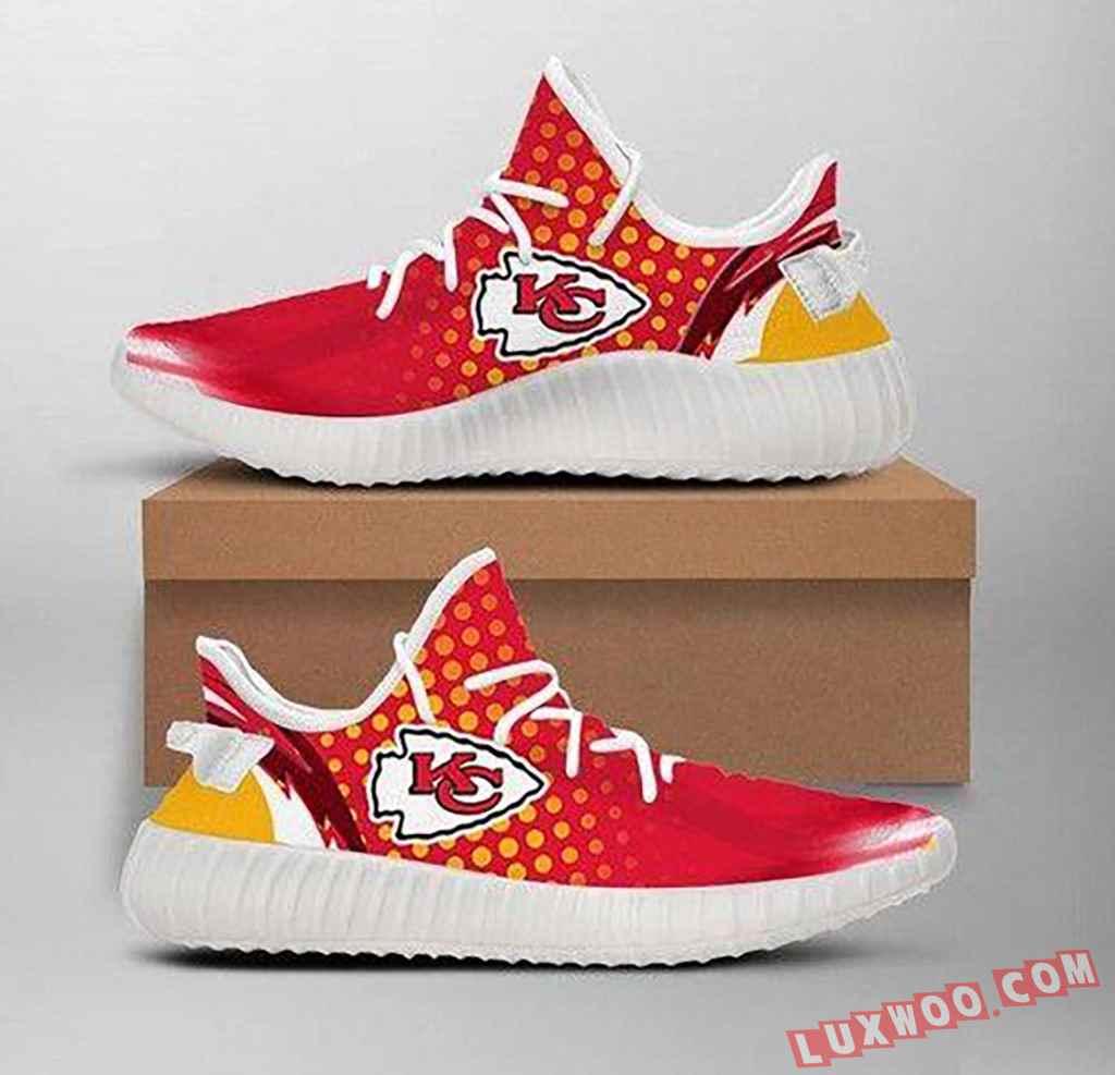 Nfl Kansas City Chiefs Team Big Logo Yeezy Boost