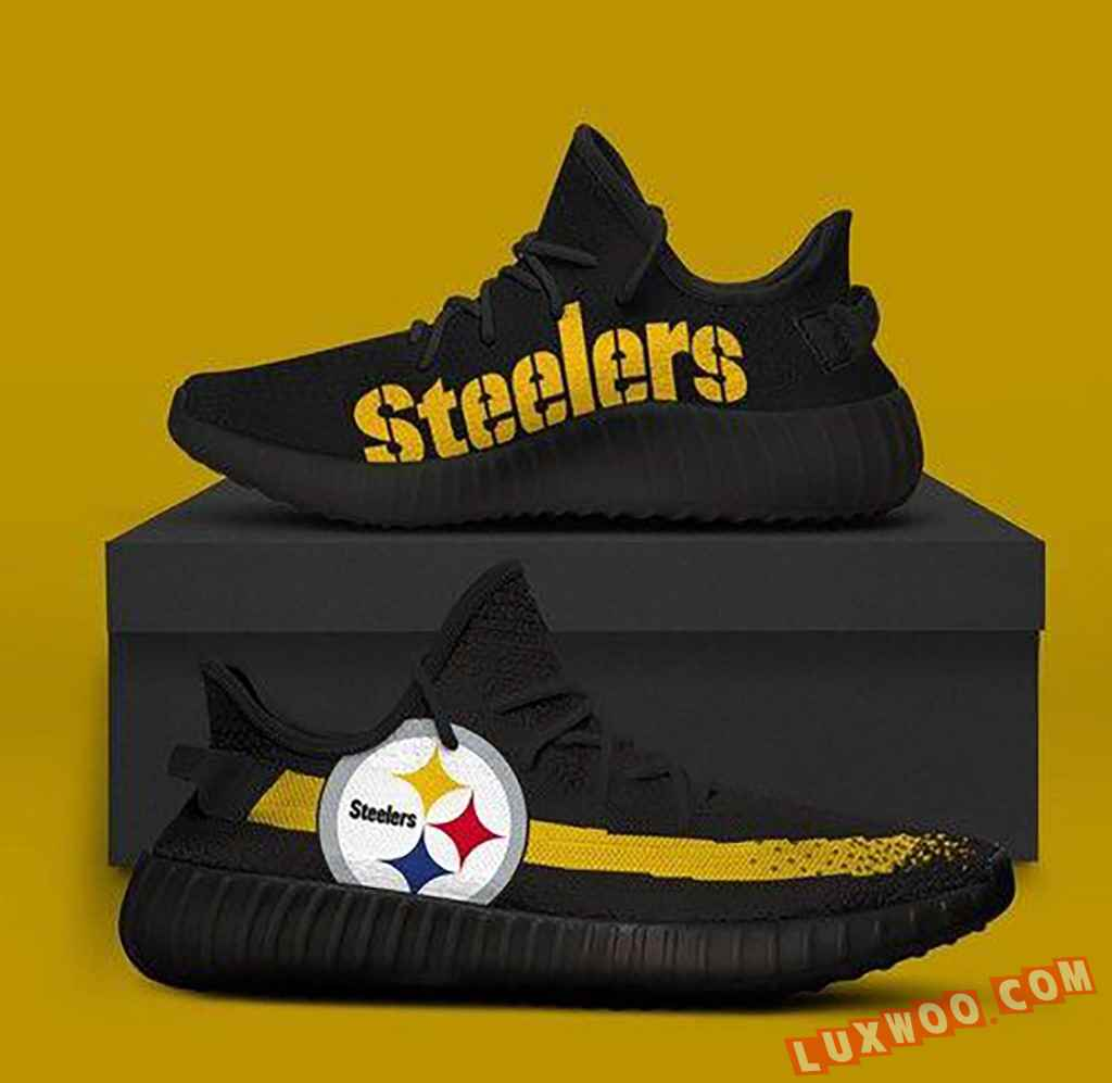 Pittsburgh Steelers Black Version Nfl Teams Adidas Yeezy Boost 350 V2