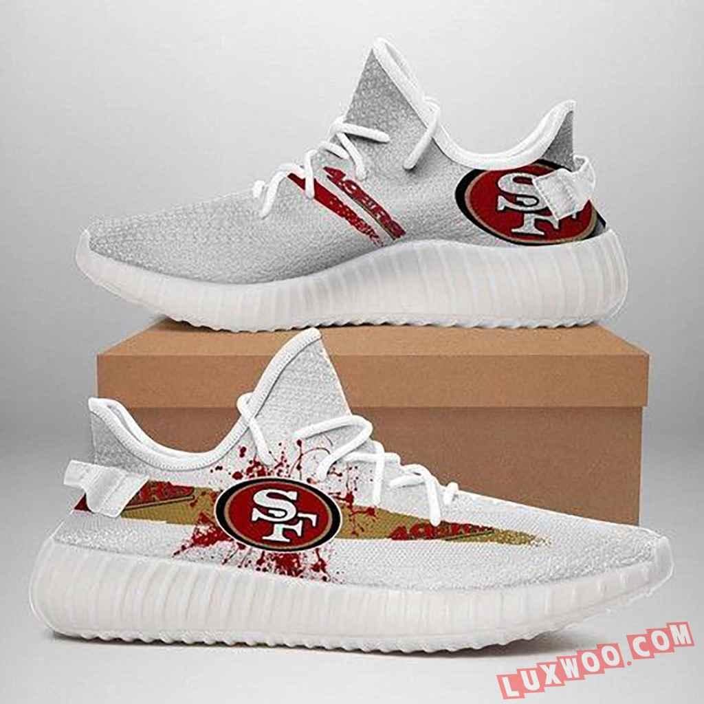 San Francisco 49ers Nfl Sport Teams Yeezy Boost 350 V2 Sneakers