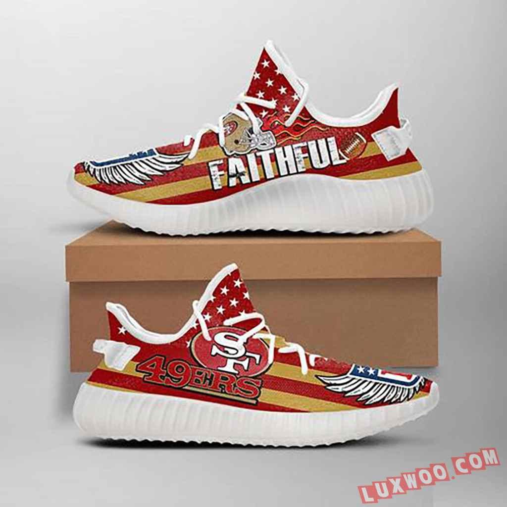 San Francisco 49ers Style Custom Yeezy Ultra Boost