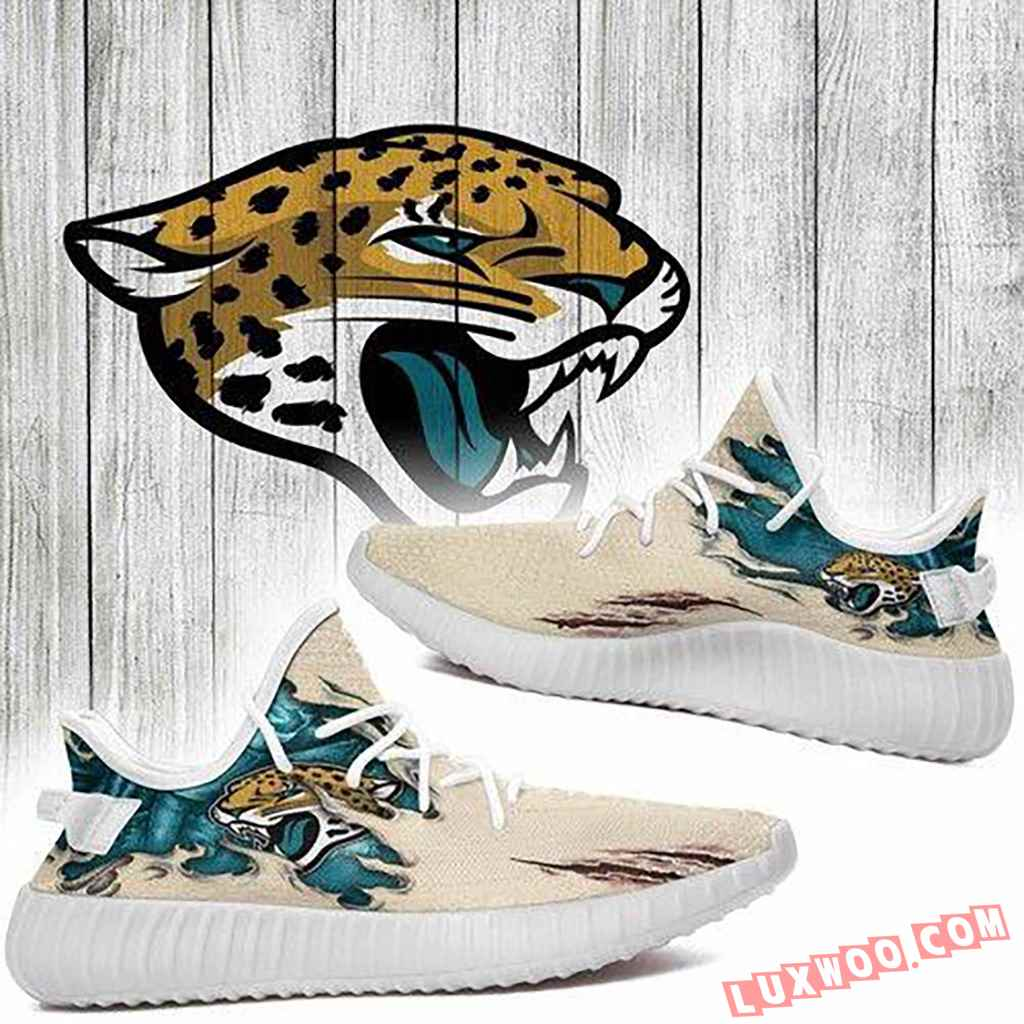 Scratch Jacksonville Jaguars Nfl Yeezy Boost 350 V2 Yeezy Sneakers