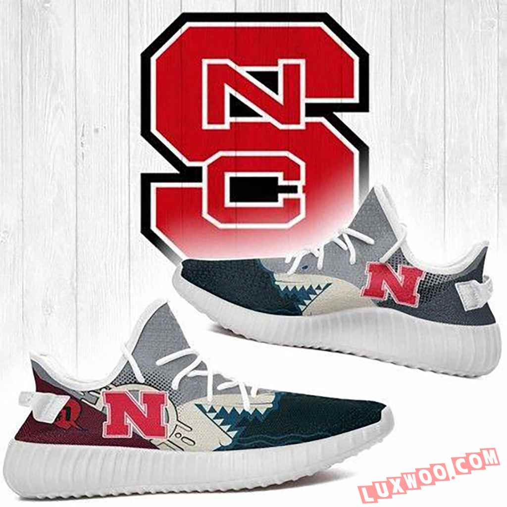 Shark Nc State Wolfpack Ncaa Yeezy Boost 350 V2 Shoes