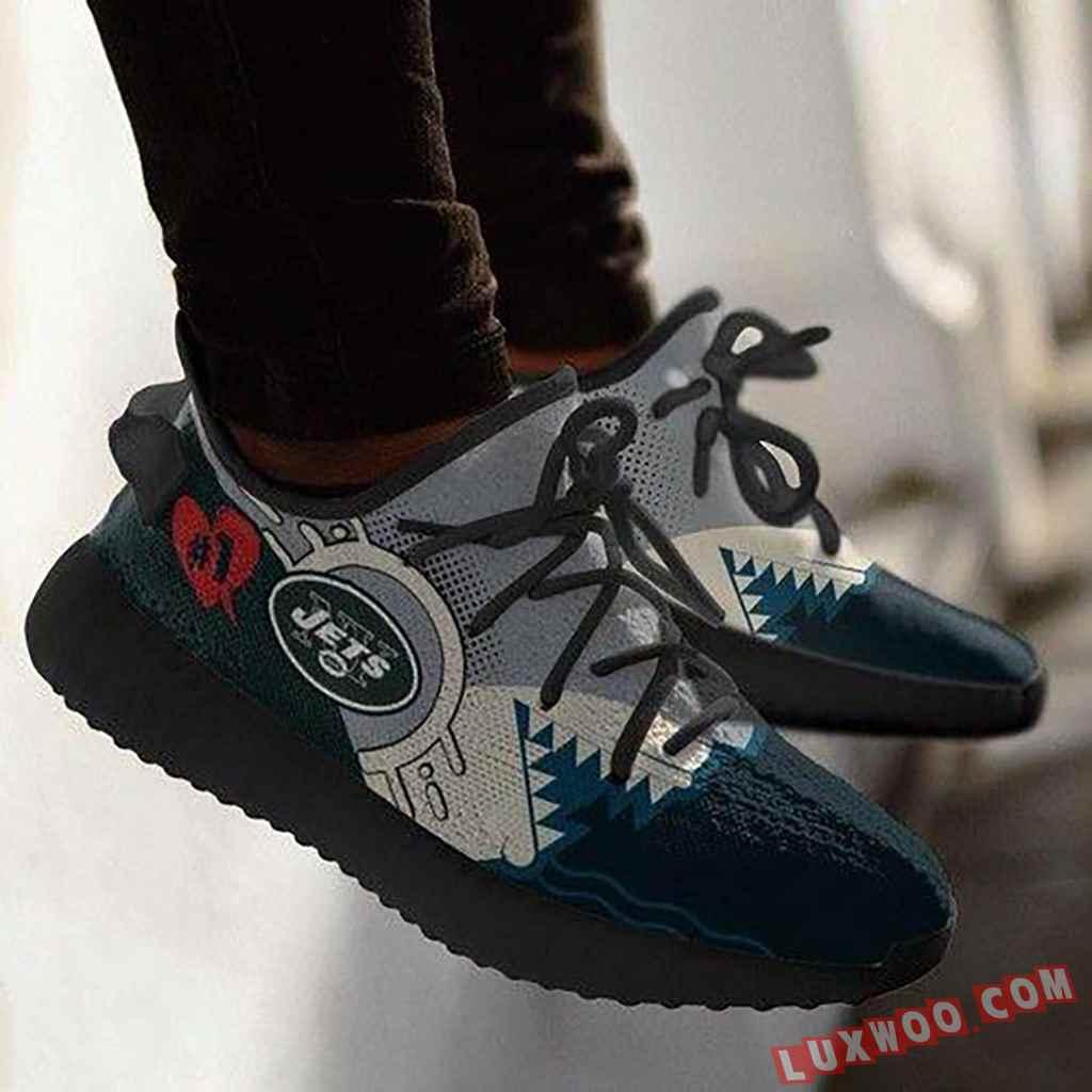 Shark New York Jets Nfl Yeezy Boost 350 V2 Shoes