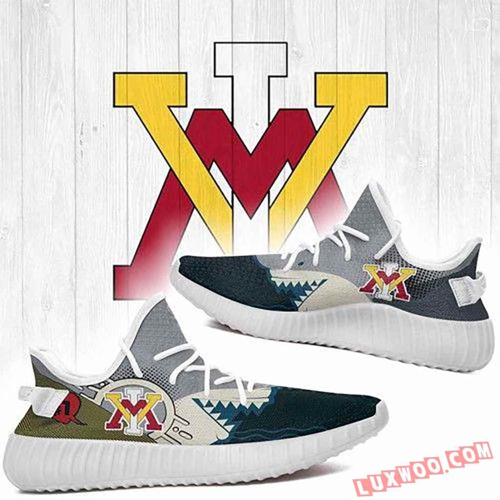 Shark Vmi Keydets Ncaa Yeezy Boost 350 V2 Shoes