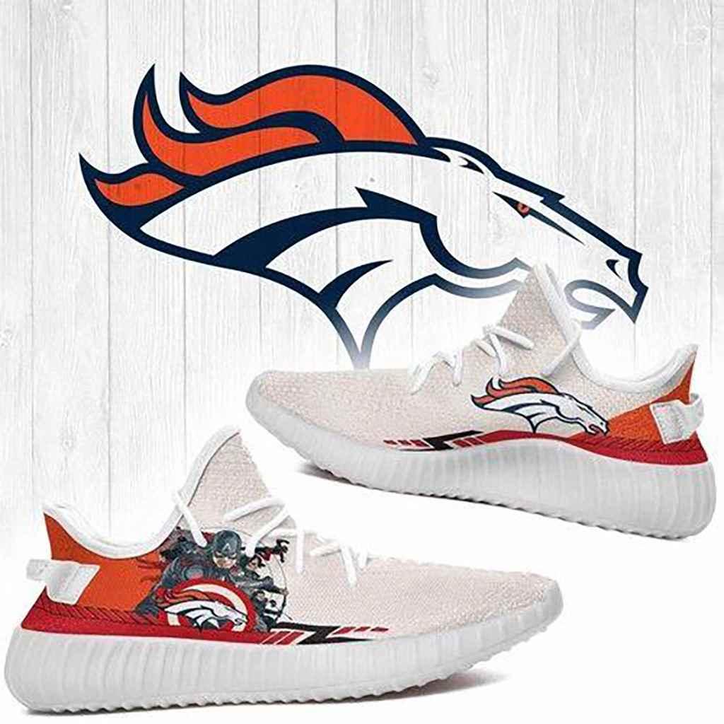 Superheroes Denver Broncos Nfl Yeezy Boost 350 V2 Shoes