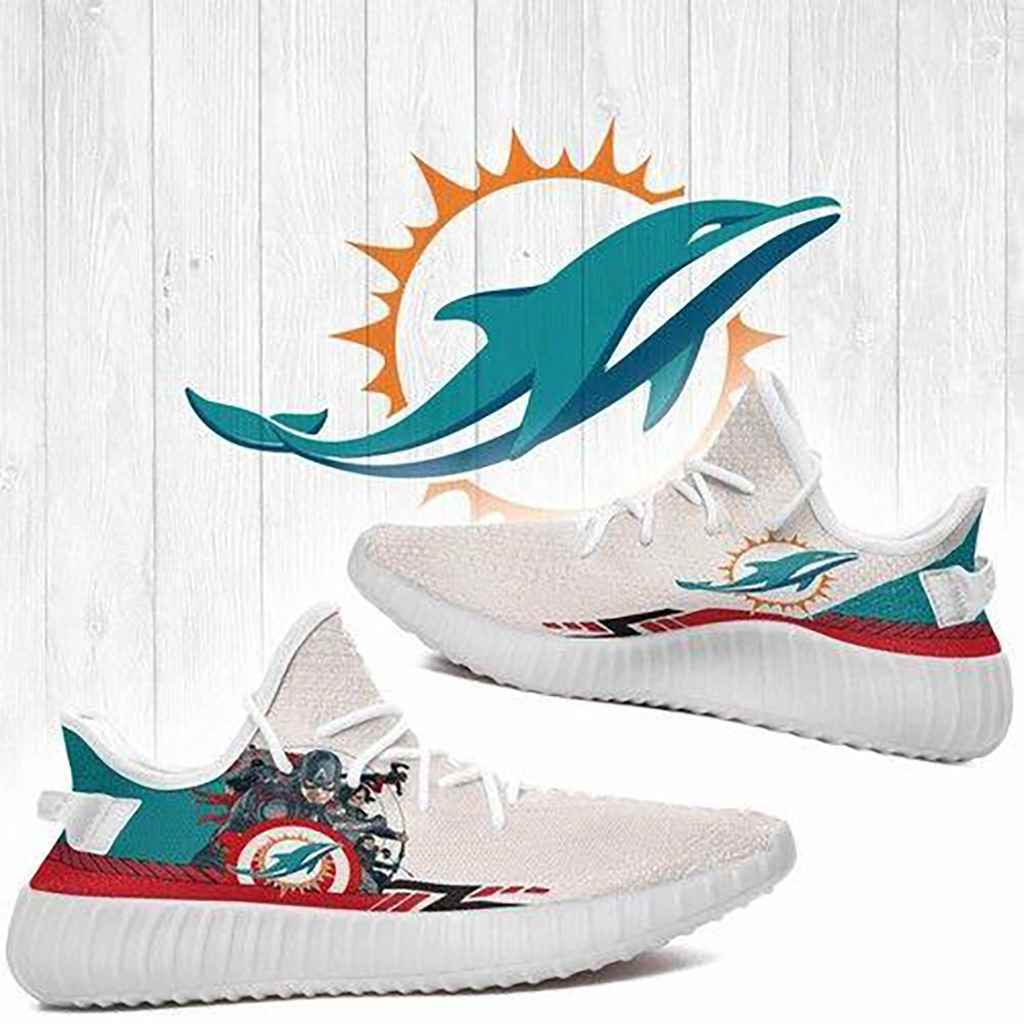 Superheroes Miami Dolphins Nfl Yeezy Boost 350 V2 Shoes
