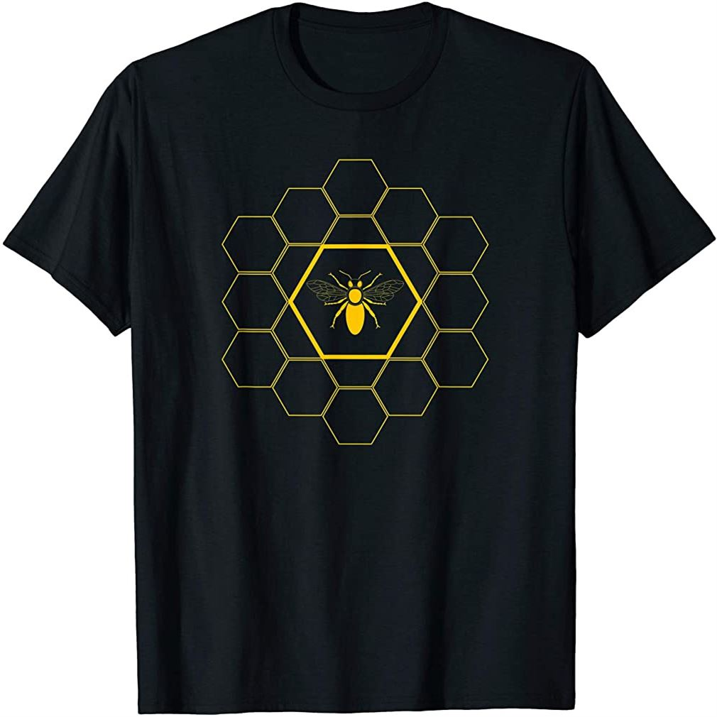 Bee Honeycomb Beekeeper Beekeeping T-shirt Gift T-shirt Size Up To 5xl