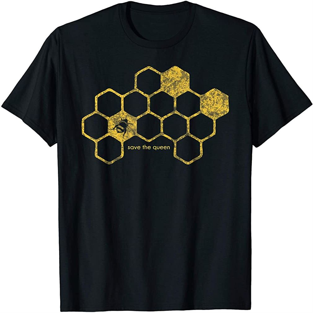 Bee Honeycomb Save The Queen Beekeeper Apiarist Gift T-shirt Size Up To 5xl