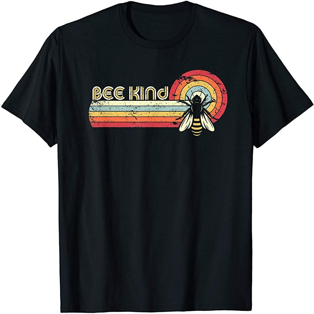 Bee Kind Shirt Retro Style Bees T-shirt Size Up To 5xl