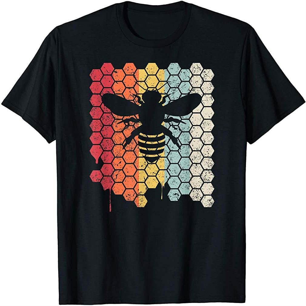Bee Shirt Retro Style Beekeeper T-shirt Size Up To 5xl