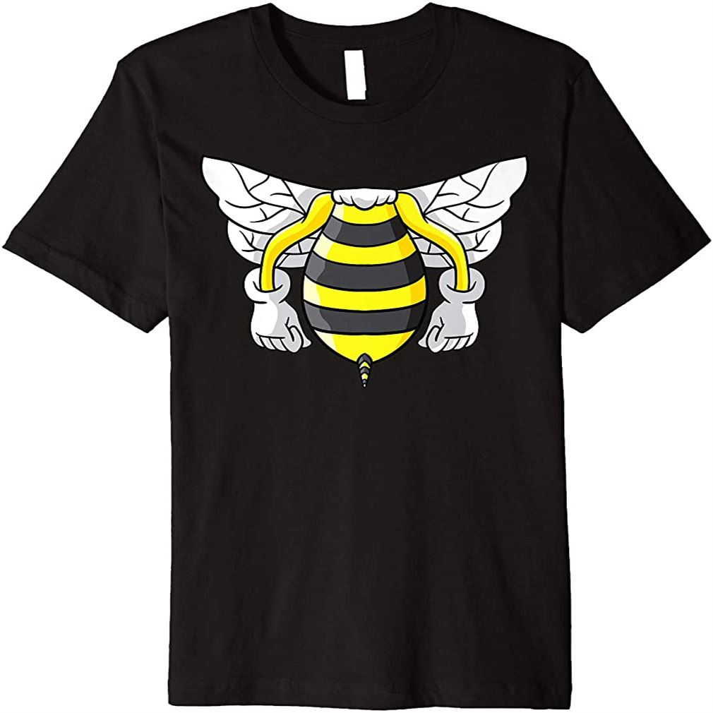 Honey Bee Funny Beekeeper Halloween Costume For Bees Lover Premium T-shirt Plus Size Up To 5xl