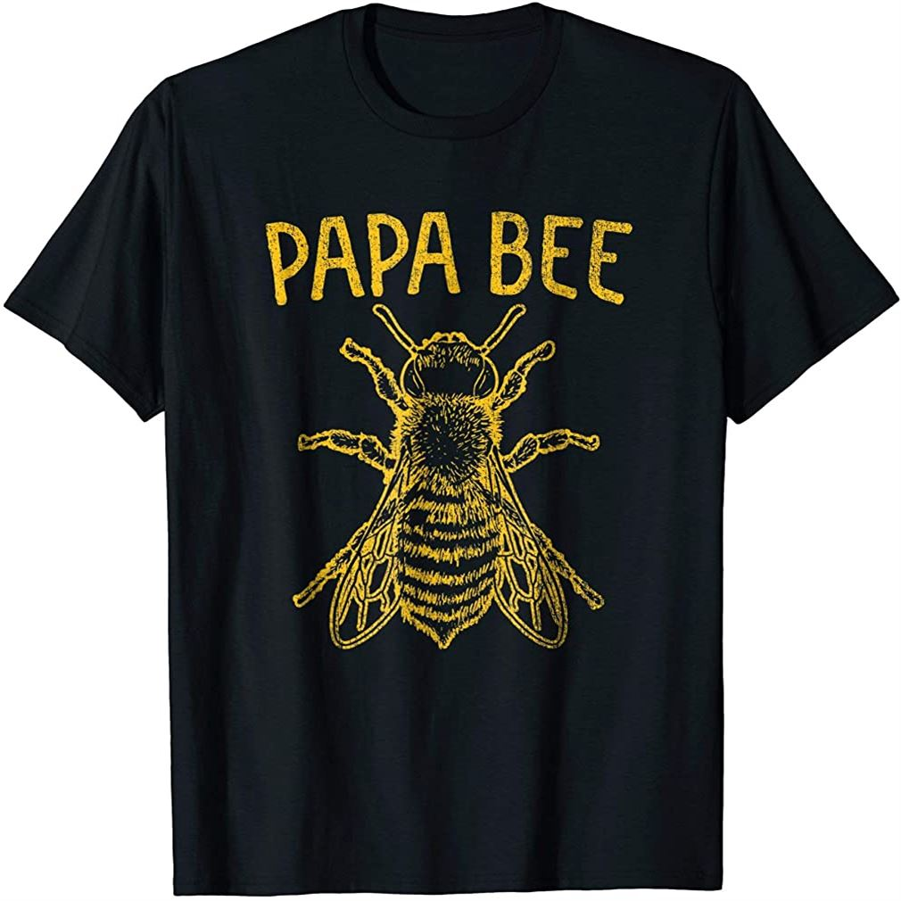 Mens Bee Shirt Papa Dad Father Keeper Keeping Apiarist Hive Gift Size Up To 5xl