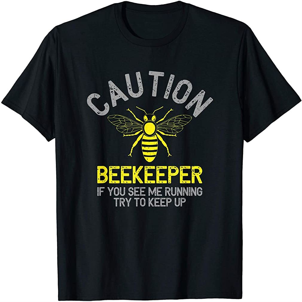 Mens Beekeeper T-shirt Caution Beekeeping Funny Bee Lover Gift Size Up To 5xl