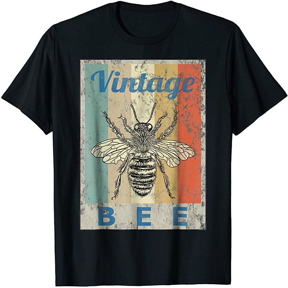 Vintage Style Bee Queen Honey Beekeeper Beekeeping T-shirt Size Up To 5xl