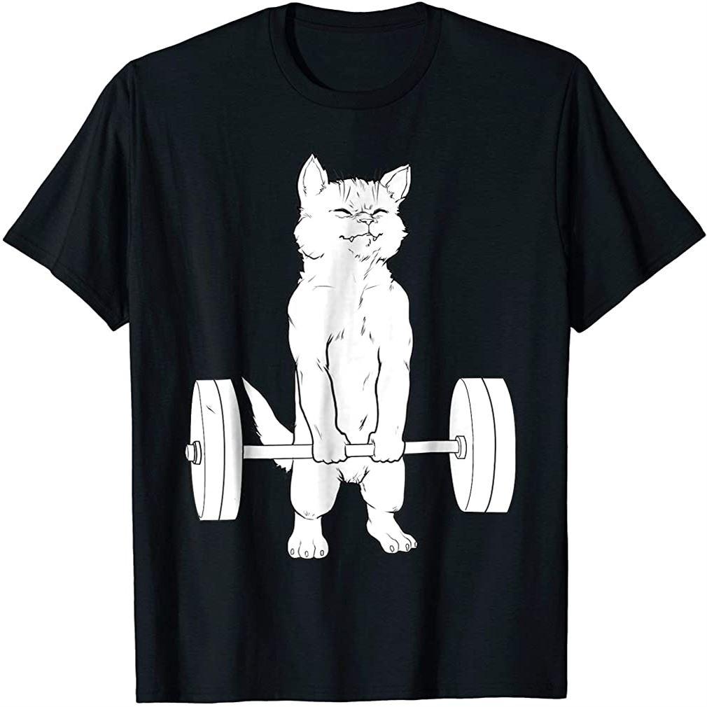Cat Deadlift Powerlifting T-shirt Size Up To 5xl