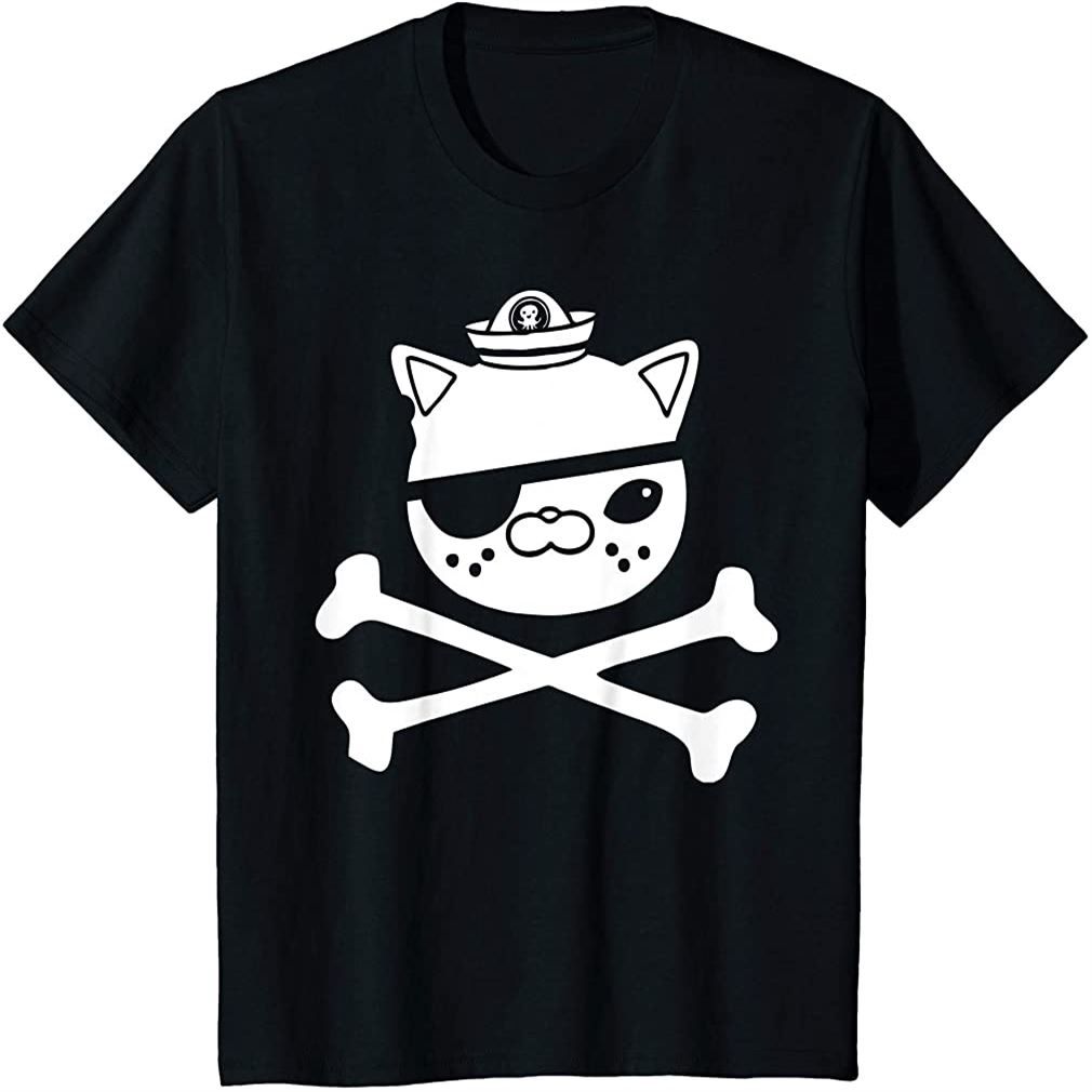 Kids Kwazii Cute Funny Pirate Cat Kids Tee T-shirt Plus Size Up To 5xl