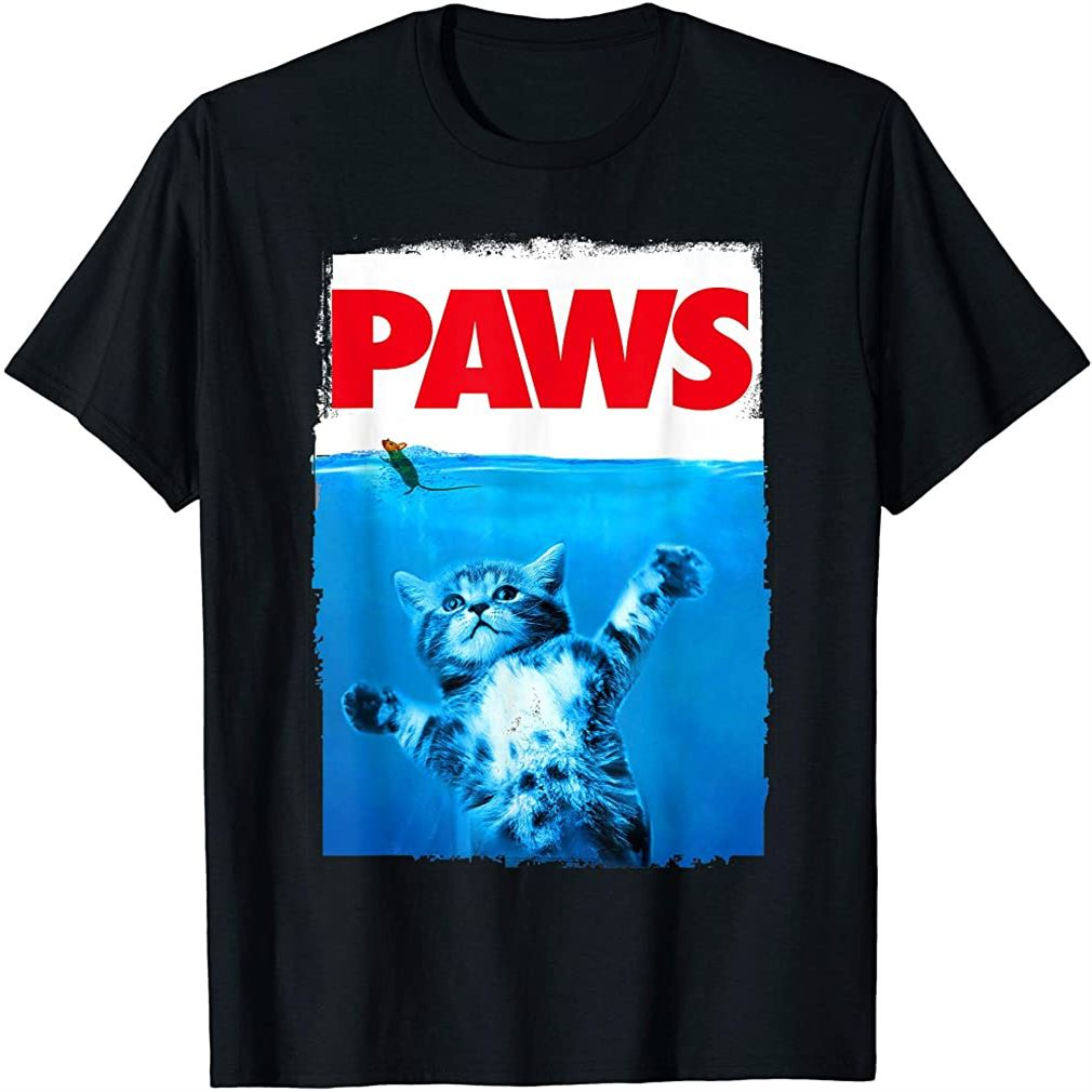 Paws Cat And Mouse Top Cute Funny Cat Lover Parody Top T-shirt Size Up To 5xl