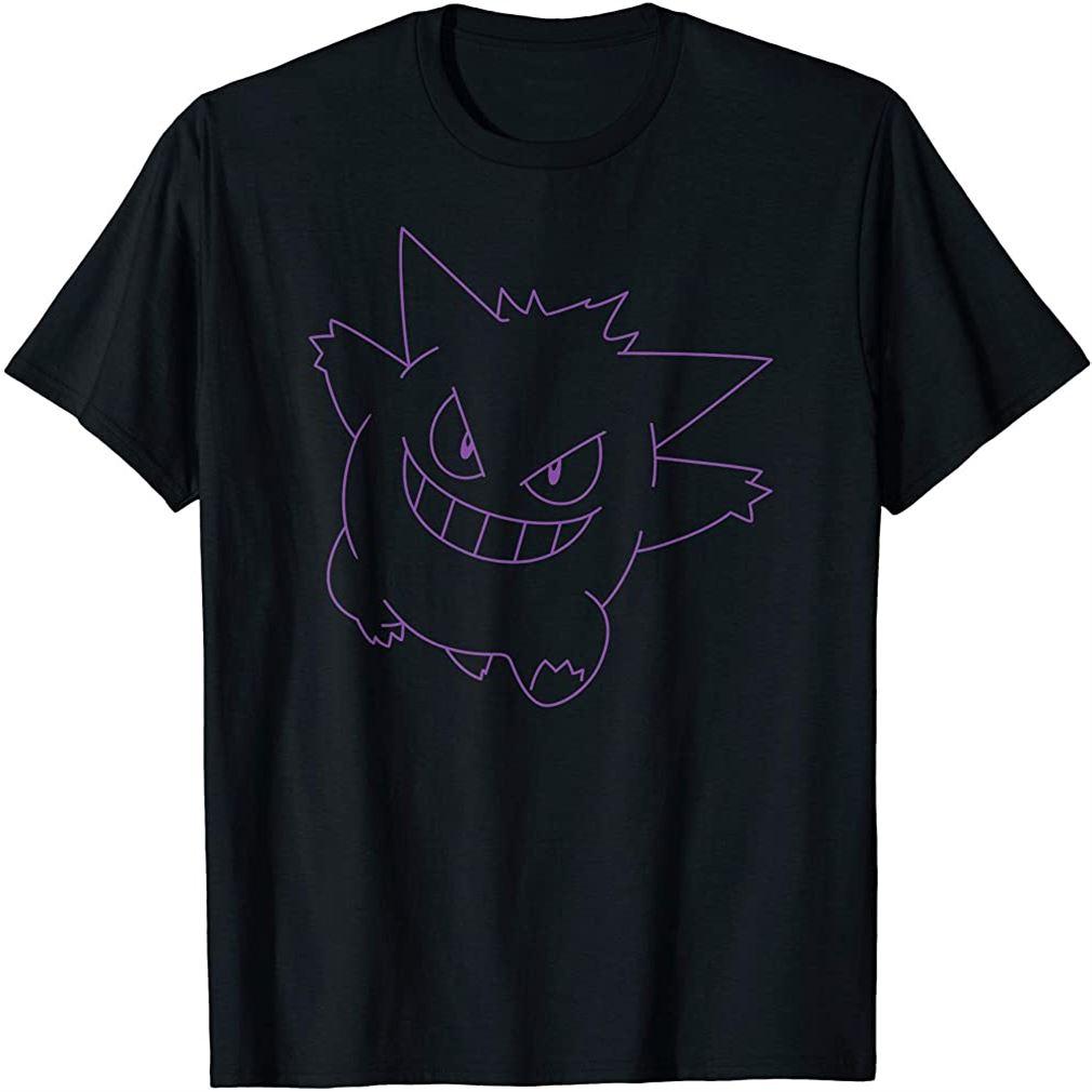 Pokemon Gengar Big Face T-shirt Plus Size Up To 5xl