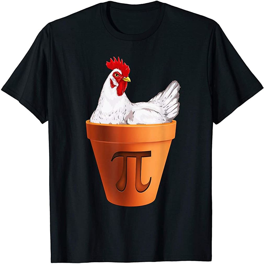 Chicken Pot Pi Day T Shirt Gift Men Women Kids Math T-shirt Plus Size Up To 5xl
