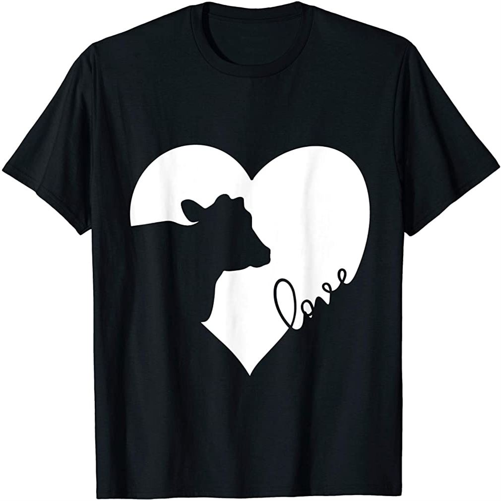 Cow In Heart Cows Love T-shirt Gift Size Up To 5xl