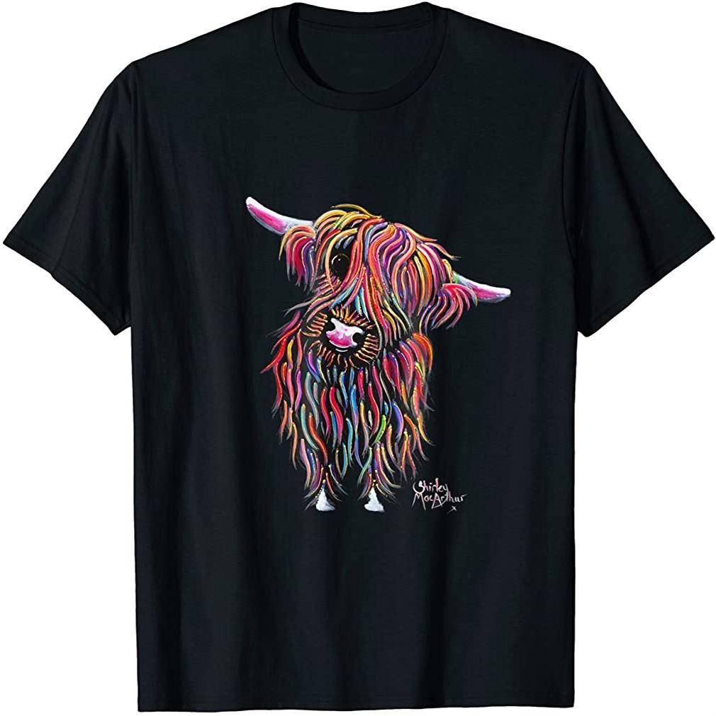 Highland Cow Print Animal Print Bolly Plus Size Up To 5xl