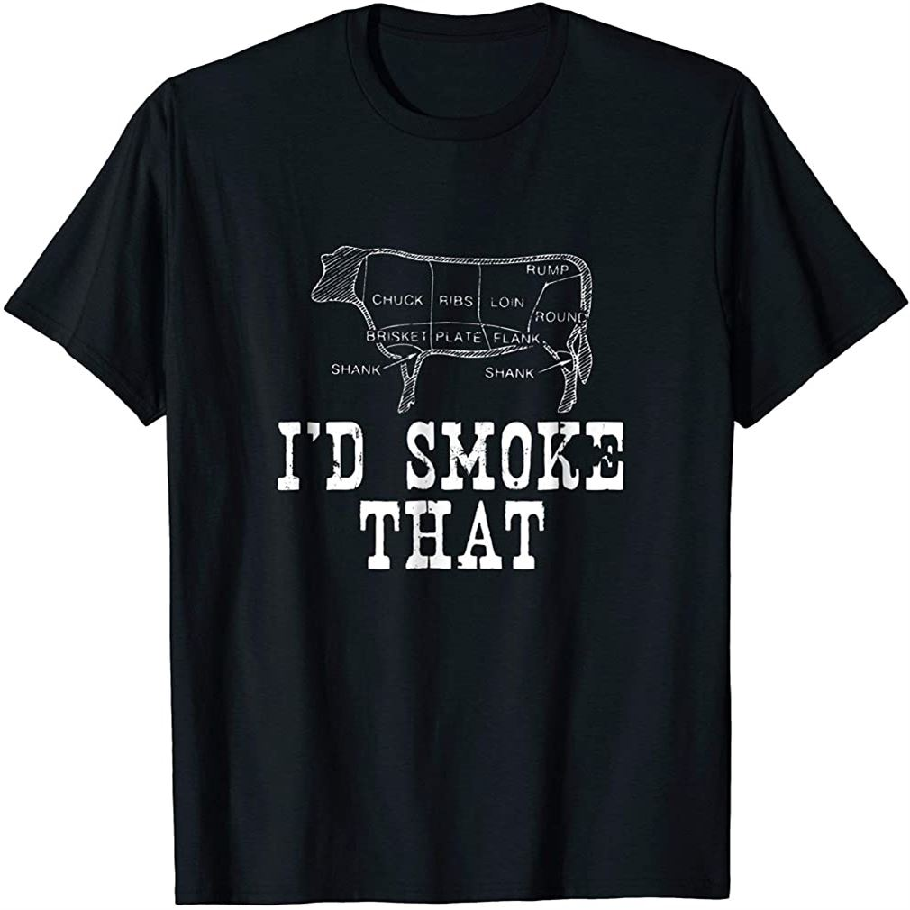 Id Smoke That Cow Bbq T-shirt For Grillmasters Fathers Plus Size Up To 5xl