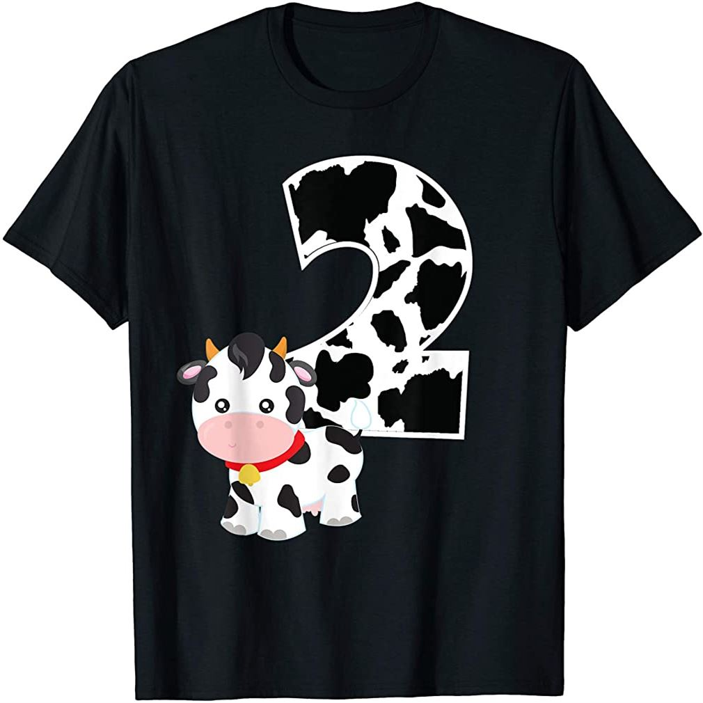 Im Two Age 2 Cow Farm Theme Birthday Gift Number 2 T-shirt Plus Size Up To 5xl