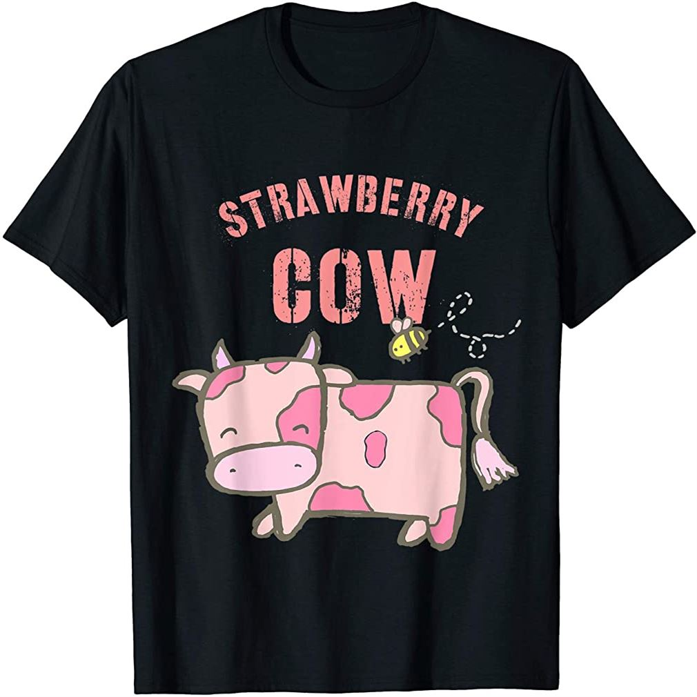 Strawberry Cow Cute Cow Pink Cow T-shirt Size Up To 5xl