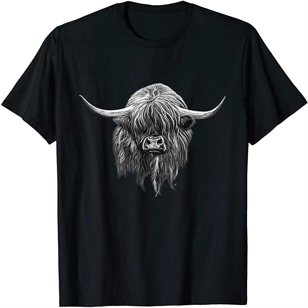 Wee Hamish The Scottish Highland Cow T-shirt Size Up To 5xl