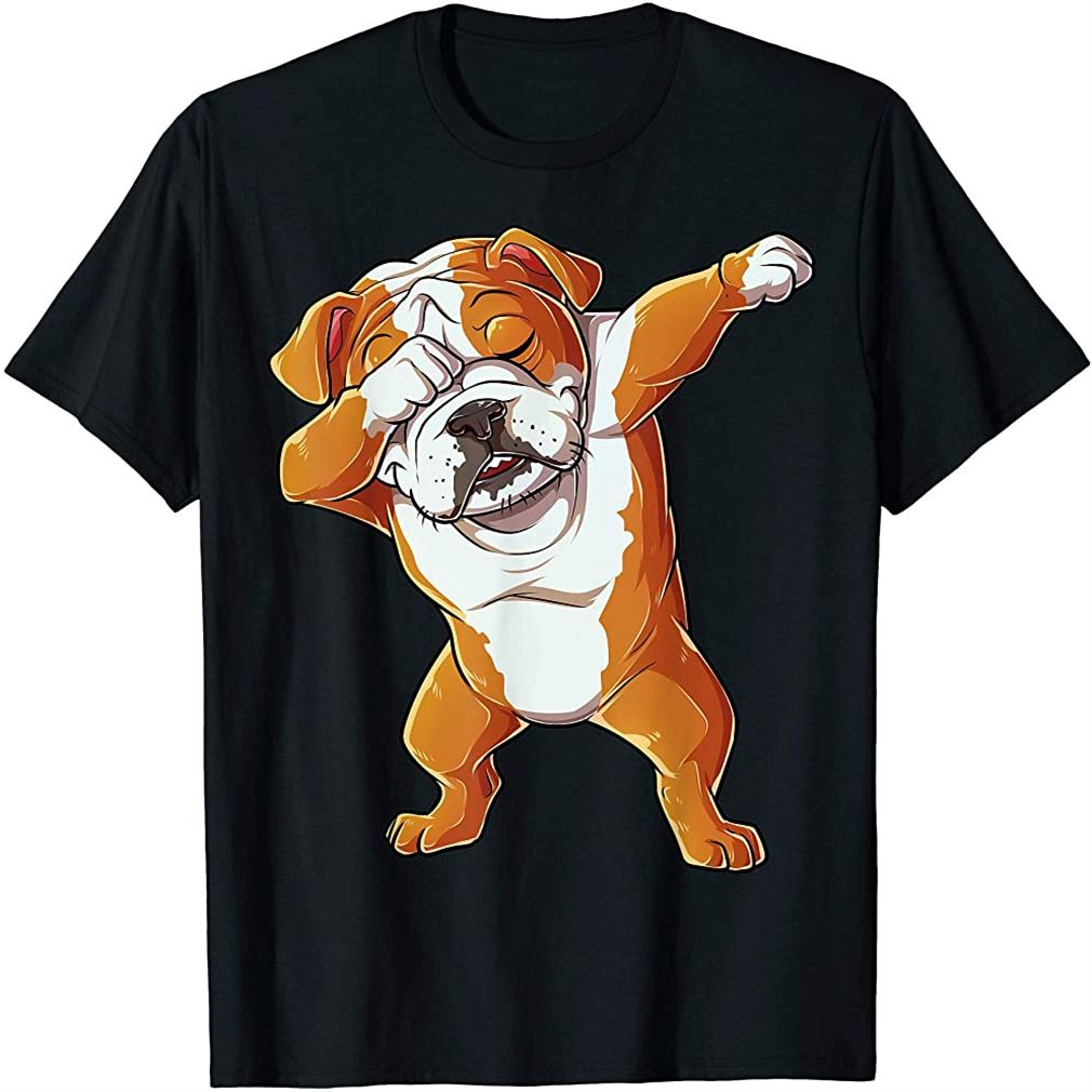 Dabbing English Bulldog T Shirt Boys Dab Dance Puppy Lover T-shirt Plus Size Up To 5xl