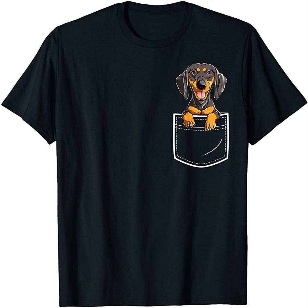 Dachshund In Your Front Pocket T Shirt Dog Puppy Gifts Women Size Up To 5xl