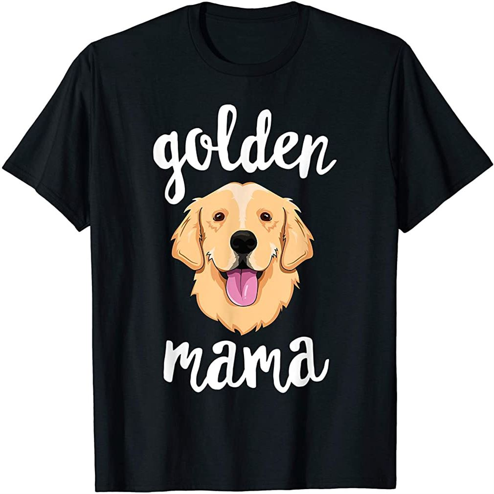 Golden Retriever Mama T-shirt For Women Mother Dog Pet Gift T-shirt Plus Size Up To 5xl