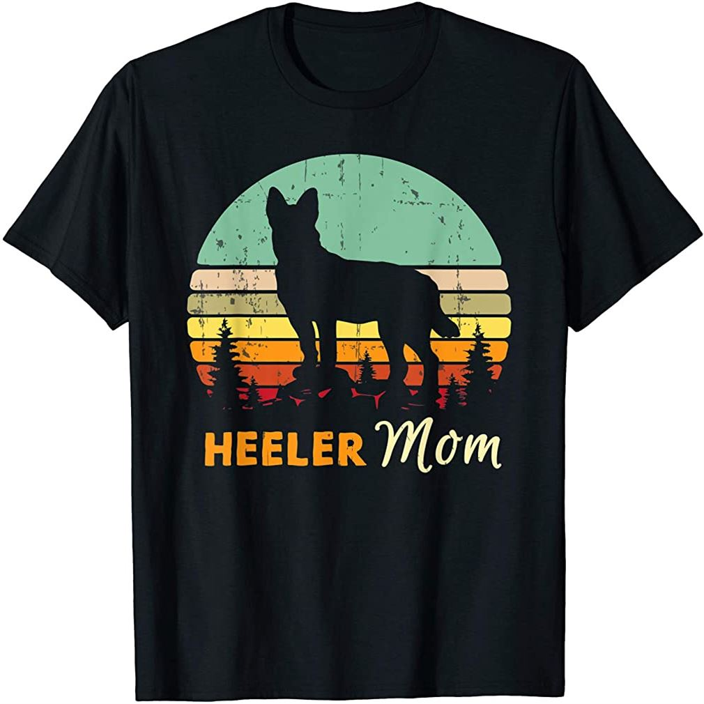 Heeler Mom Shirt Mama Mother Pet Cattle Dog Owner Gift Plus Size Up To 5xl