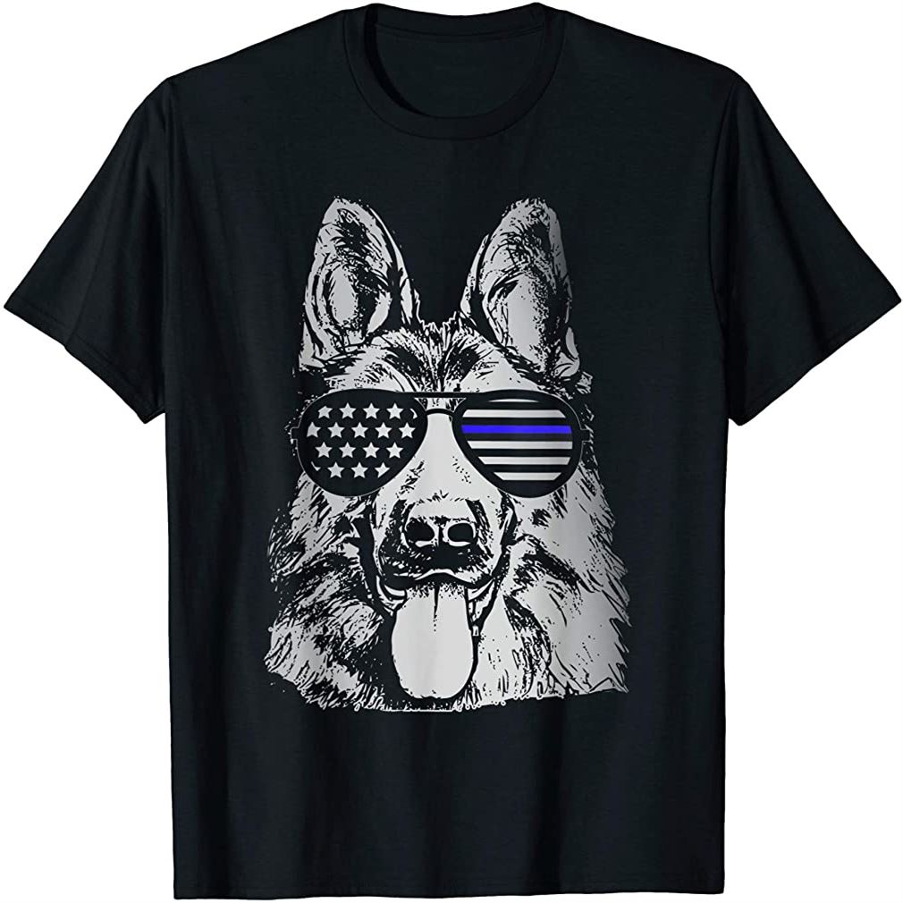 K9 Police Officer Shirt Police Dog Thin Blue Line Gift Size Up To 5xl