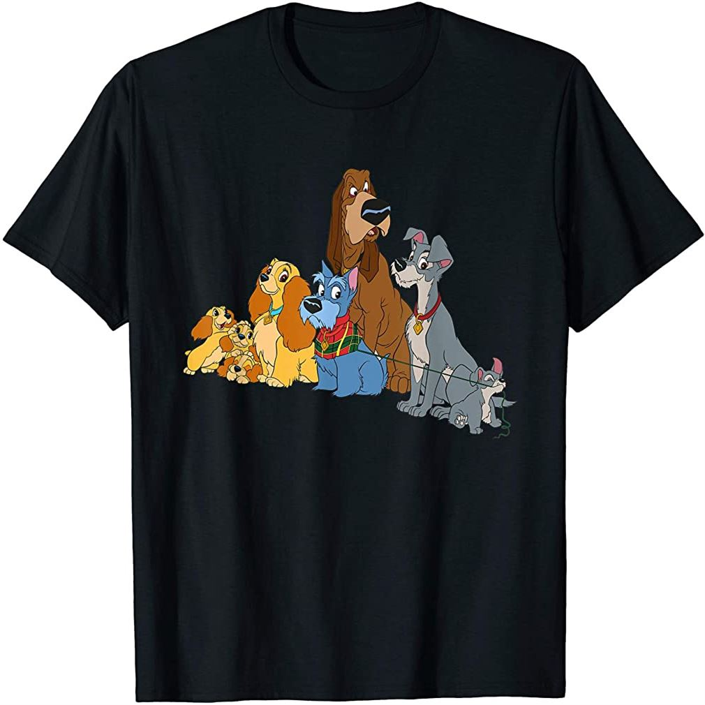 Lady And The Tramp Dogs T-shirt Size Up To 5xl