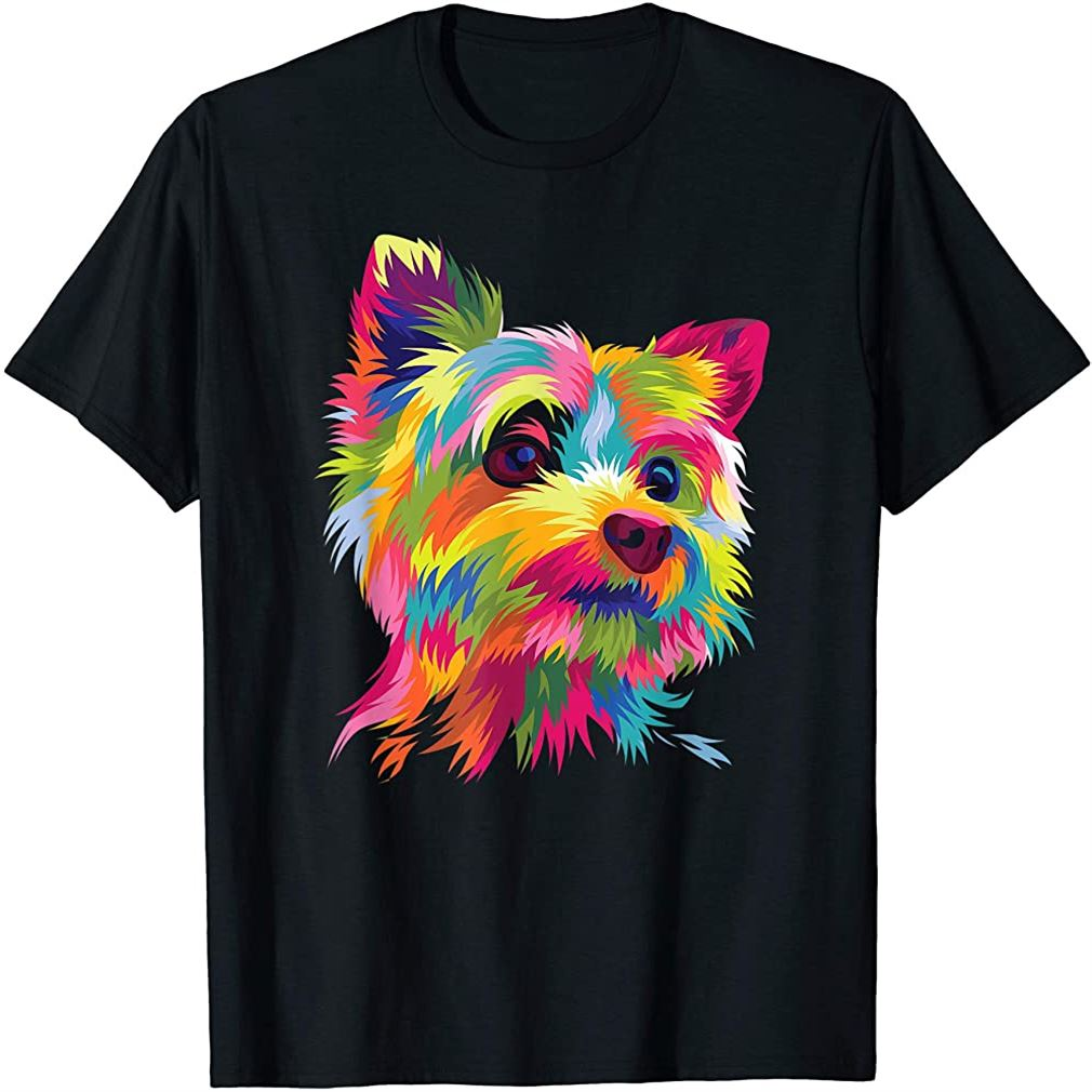 Yorkshire Terrier Funny Yorkie Pop Art Popart Dog Gift T-shirt Plus Size Up To 5xl